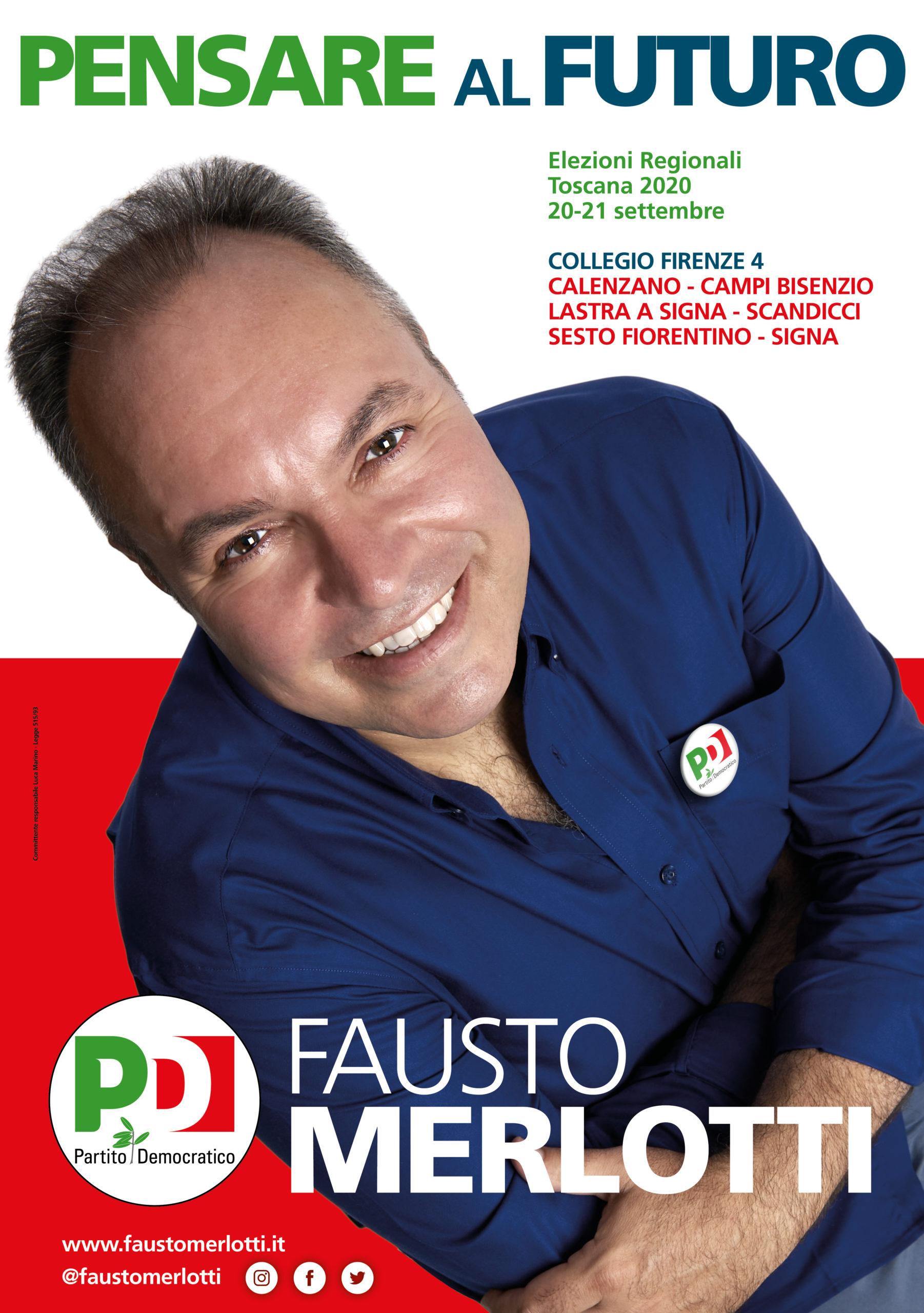 Fausto Merlotti campagna elettorale PD regionali toscana 2020 consigliere regionale